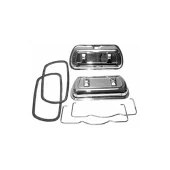 SCAT Chrome Steel Valve Covers, Pair