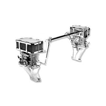 Weber Dual 44 IDF, Linkage, Type IV Carburetor Kit with Air Cleaners