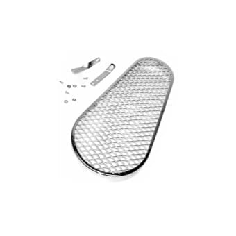 Chrome Pulley Guard - Diamond Mesh Pattern