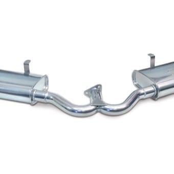 Dual Quiet Muffler for Merge Exhaust - Ceramic